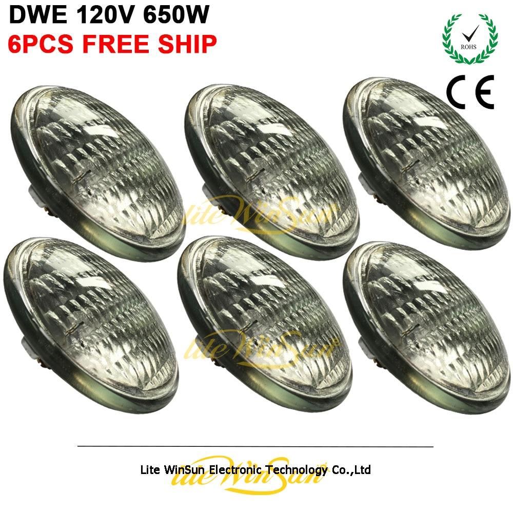 Litewinsune 6PCS Free Ship Par Lamp GE DWE 120V 650W Halogen Metal Halide Lamp Source for
