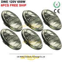 Litewinsune 6 pçs livre navio par lâmpada ge dwe 120 v 650 w halogênio fonte de lâmpada de halogeneto de metal para o teatro audiência blinder iluminação