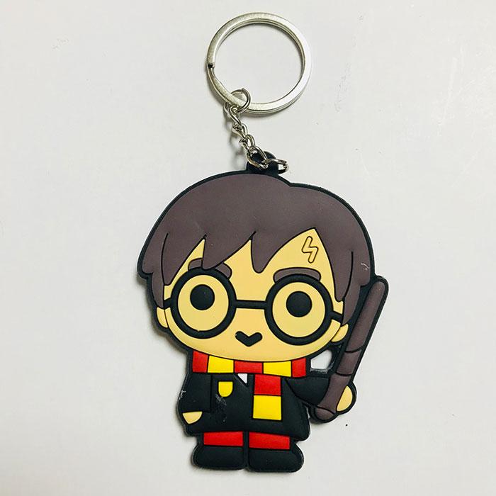 Harry Potter Two-sided Key Harry Chain Handmade PVC Keychain Cartoon key chain