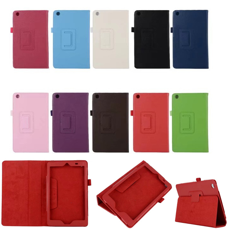 For Huawei T3 8 Litchi Grain Leather Flip Cover Case for Huawei MediaPad T3 8.0 KOB-L09 KOB-W09 tablet case stand cover