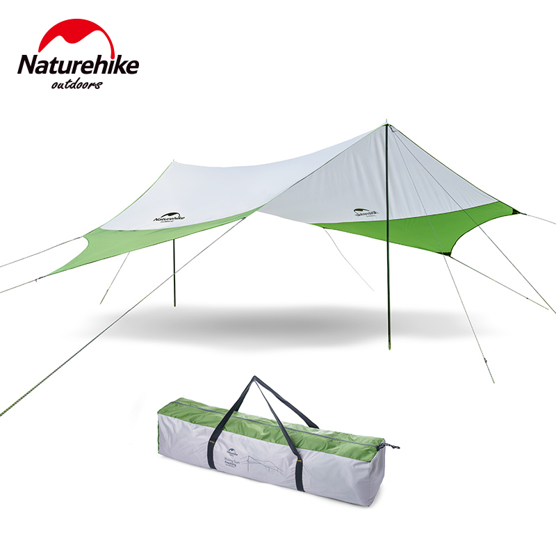 Naturehike hexagonal sun shelter outdoor waterproof tarp large camping canopy beach tent sunshade picnic sun shelter with poles