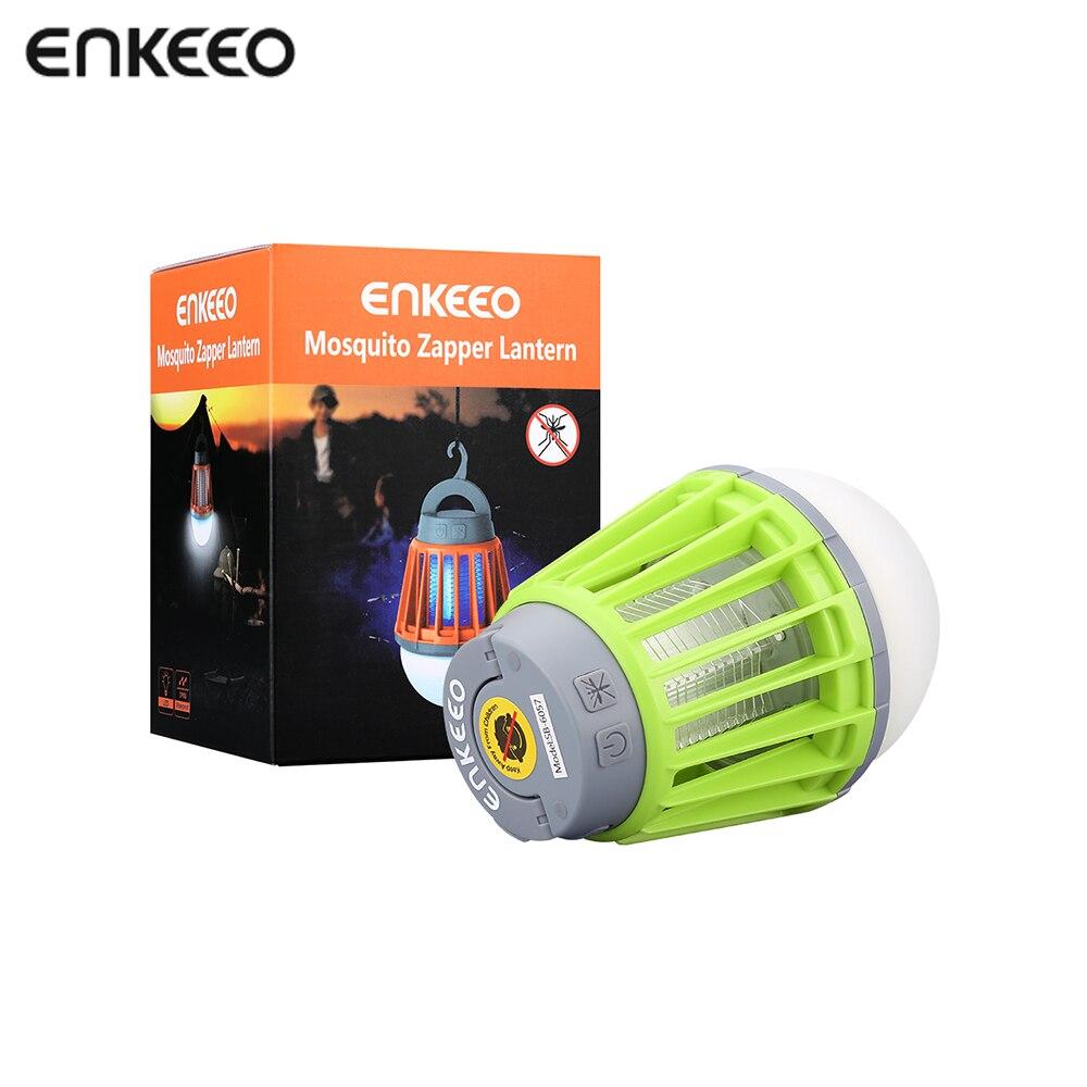 Enkeeo Camping Light Portable Electronics Mosquito Killer Pest Repeller Camping Light Bulb USB Charging LED Mosquito Killer
