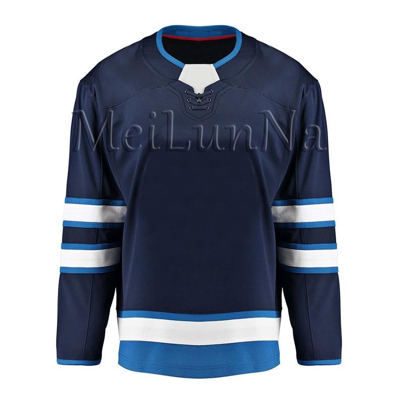 Blake Wheeler Mark Scheifele Dustin Byfuglien Patrik Laine Kyle Connor Hellebuyck Men Women Youth Winnipeg Blank Hockey Jerseys
