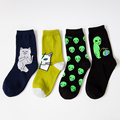 New Cat Alien Socks for Men Women Hip hop Cool Socks 36-42