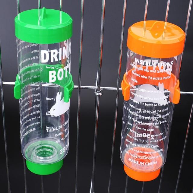 Hanging Plastic/Stainless Steel Guinea Pig - Squirrel - Rabbit - Hamster Water Drinking Dispenser 80ml 125ml 250ml 4