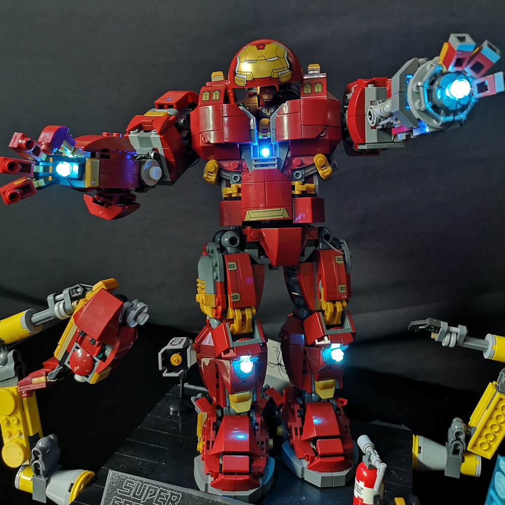 LED Light Kit For lego and lepin the Iron Man Hulkbuster Set Compatible With 76105 and