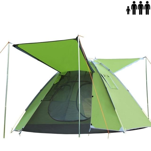 Double Rainproof C&ing Portable Tent Outdoor Anti UV Pop Up One Second Instant Folding Sun Shelter  sc 1 st  AliExpress.com & Double Rainproof Camping Portable Tent Outdoor Anti UV Pop Up One ...