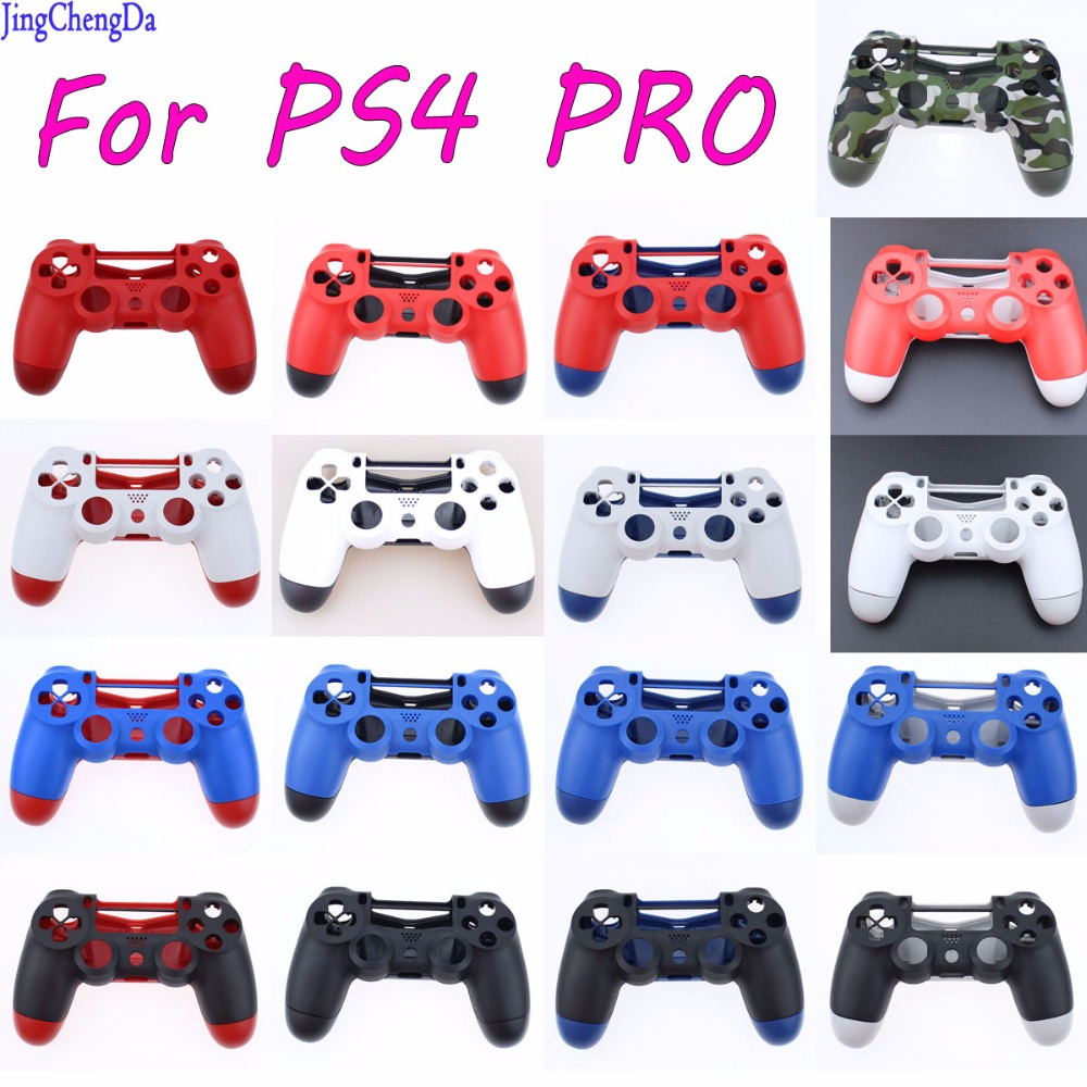 Jing Cheng Da 10PCS Plastic Matte Front+Back Hard Upper Housing Shell Case for Sony PS4 Pro Controller
