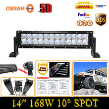 Mercado de gama alta Headlights14Inch Externa 168 W 5D ForOsram Lámpara del Trabajo del LED Light Bar Punto de Conducción Off-road ATV SUV Camión Jeep