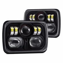 Fabrika fiyat 88W 7 inç Led çalışma ışığı 5x7 Led far kamyonlar için 4x4 Jeep offroad
