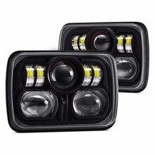 Preço de fábrica 88w 7 polegada led trabalho luz 5x7 led farol para caminhões 4x4 jeep offroad