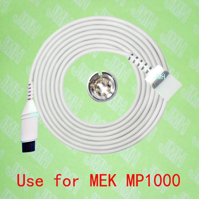 Compatible with MEK-Utah IBP Transducer Adapter cable,6pin to 4pin.Compatible with MEK-Utah IBP Transducer Adapter cable,6pin to 4pin.