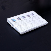 50pcs/lot High quality beveled A5 acrylic price tag holder for tablet pc display  21*15cm