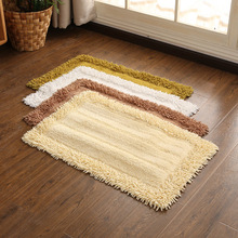 Bedside Carpet RectangleMat Nordic Couch Cotton chenille Linen Woven Floor MATS Can Be Machined Wash kitchen room living