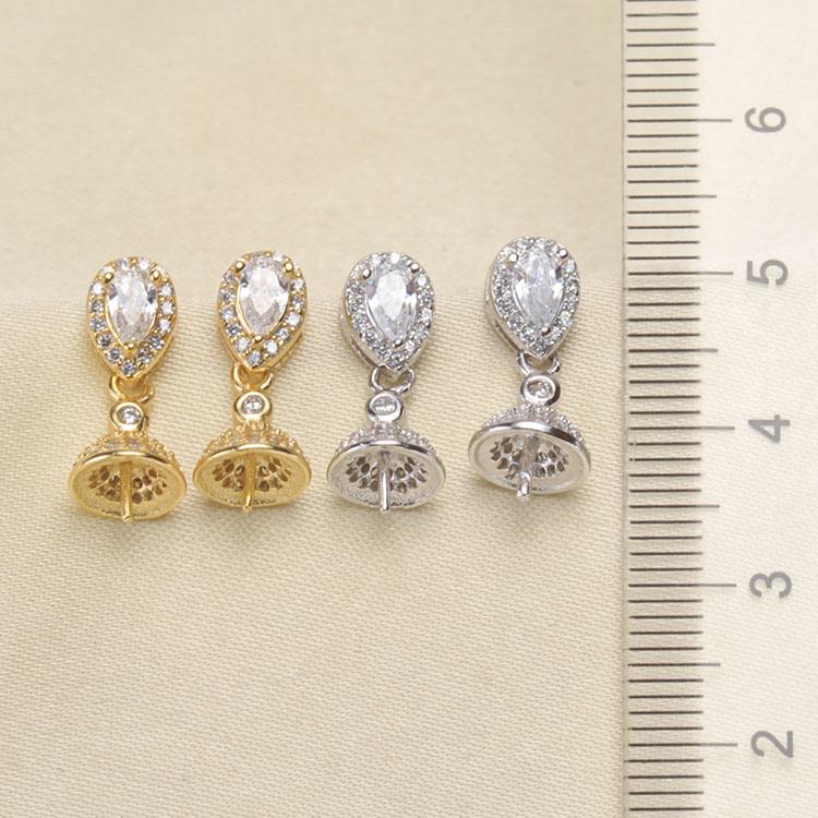 Design unico Caldo di Orecchini di Perle di Montaggio, Orecchini a pendaglio Impostazioni di Risultati Dei Monili Raccordi Orecchini a pendaglio Accessori-in Chiusure e componenti per gioielli da Gioielli e accessori su  Gruppo 1