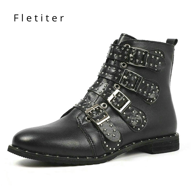 Print Pu Women Ankle Boots Plush Warm winter shoes Zip Round Toe Footwear Flats Plus size Female Boots Casual Shoes Women 2018 trendy plus size zip up letter print slimming jeans for women