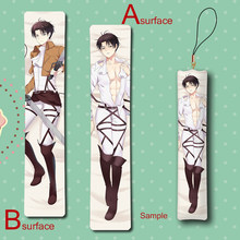 Attack on Titan Levi Cool BL Male Anime Mini Dakimakura Keychain Pillow Hanging Ornament Phone Strap Gift(China)
