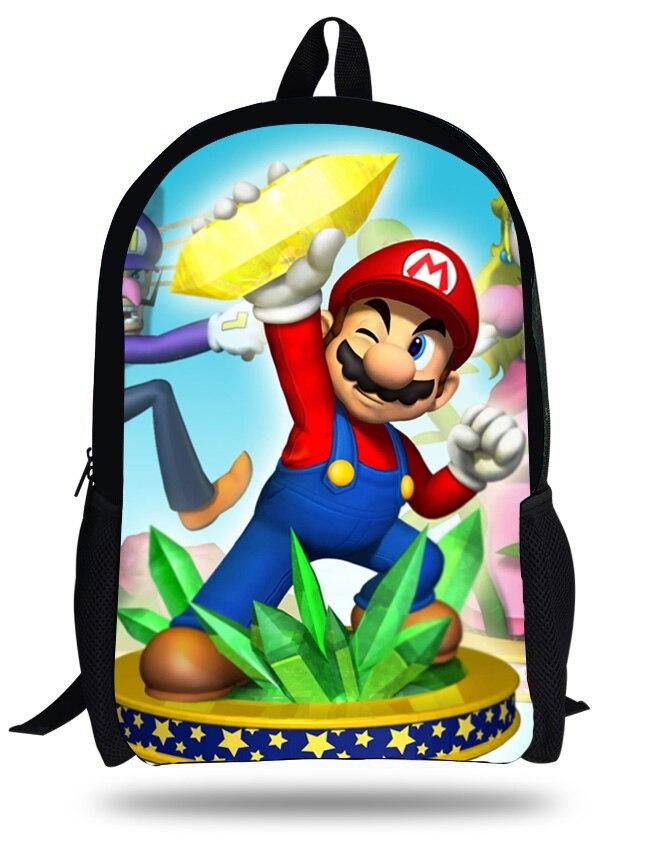 100% QualitäT 16 Zoll Beliebte Spiel Super Mario Bros Druck Rucksack Set Für Kinder Schultaschen Jungen Mädchen Bookbag Mit Einem LangjäHrigen Ruf