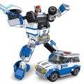 Бесплатные Корабль Новое прибытие transform warrior Небо Меч Комбо Деформация Super Robot Building Blocks Клон playmobil Игрушки