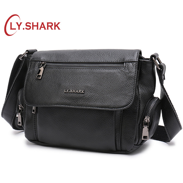 LY.SHARK Crossbody Shoulder Bag Green Genuine Leather Bag Women's Handbags Female Women Messenger Bags Ladies' Tote Small Brand цена
