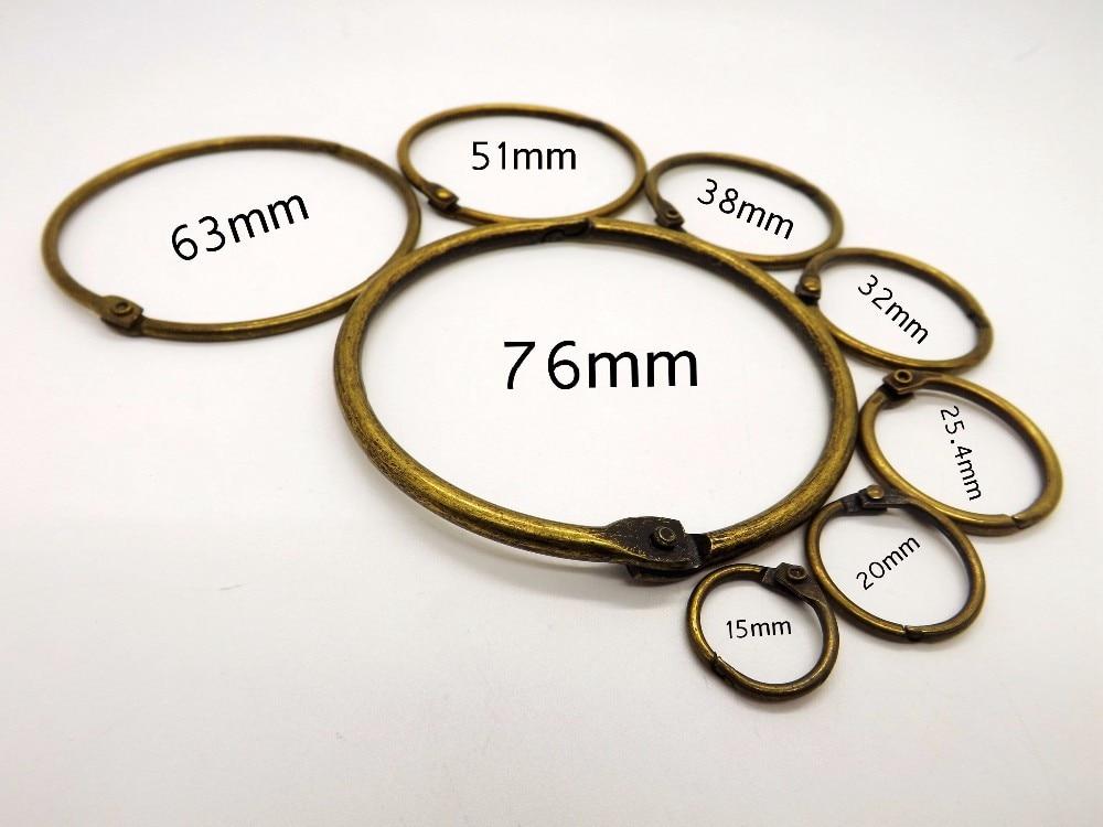 anel pendurado anel calendário durável 10 pcs por conjunto anel aberto