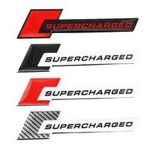 Car Sticker Emblem-Badge Decorative-Accessories Bike SUPERCHARGED Moto Universal Aluminum