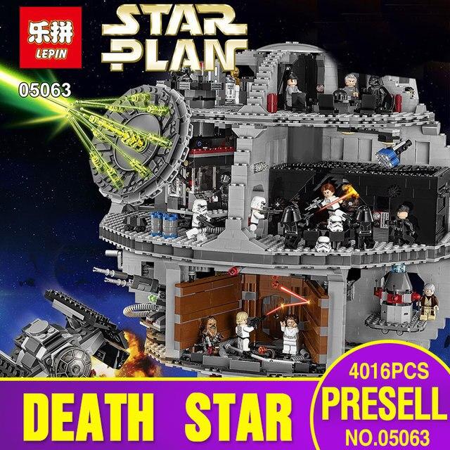 2017 Lepin 05063 4016 unids Genuino New Star War Fuerza Despertar UCS Estrella de La Muerte de Bloques de Construcción Ladrillos de Juguetes Educativos Juguetes de Niño 75159
