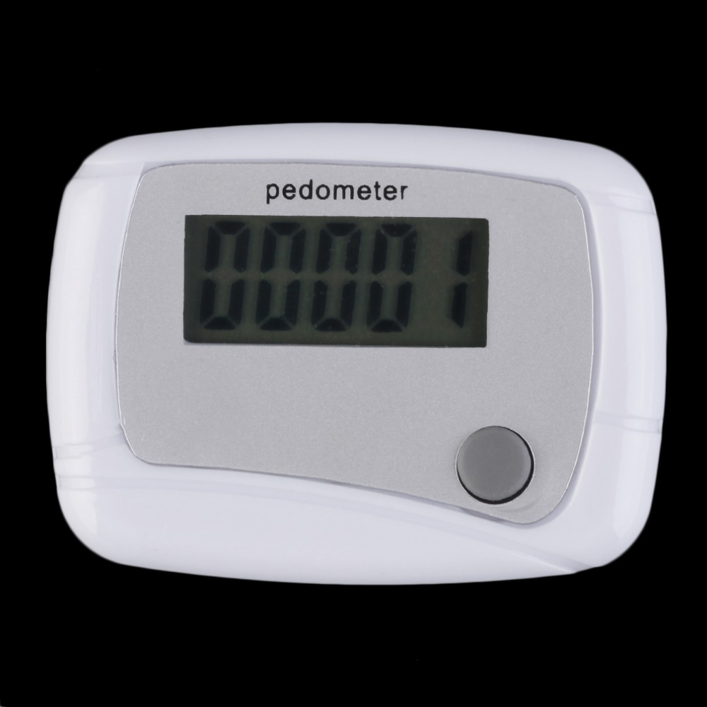 Portable Mini Plastic Digital LCD Running Step Pedometro Walking Distance Counter Arm Calcolatrice Belt Uomo Donna Attrezzature sportive