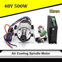 48 В ЧПУ 500 Вт воздушного охлаждения шпинделя бесщеточный двигатель постоянного тока + 52 мм зажим + Скорость губернатора ER16 для Гравировальны