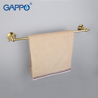 GAPPO 1Set High Quality Gold Wall Mounted Single Towel Bars Bathroom Accessories Towel Holder Hooks Restroom