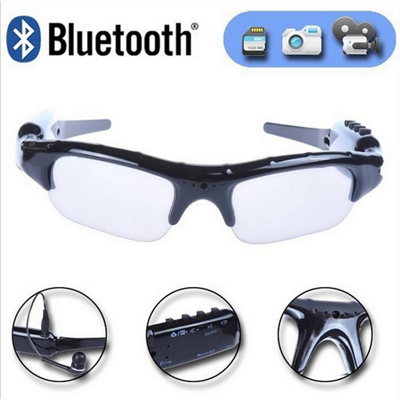 Chargable Motorcycle Bluetooth Sport Sunglasses Eye Protection Bicycle Goggles With MP3 Video Function For Ski Snowboard Fishing