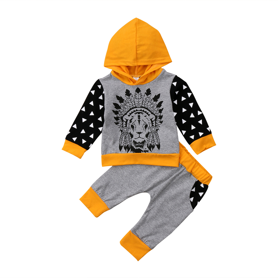 0 24m Newborn Baby Clothes Set Indian Patterns Cute Kids Boys Girls Clothes Hooded Tops Long Pants Outfit Set New Newborn Baby Clothes Set Baby Clothes Setboy Girl Clothes Aliexpress