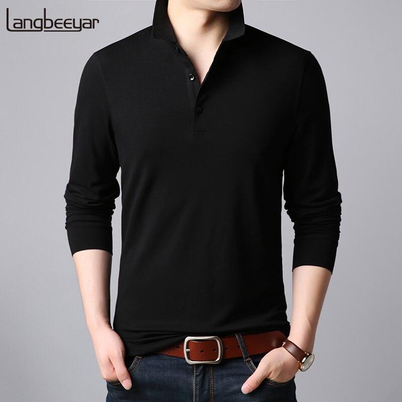 2019 New Fashion Brand Designer Polo Shirt Men Korean Slim Fit Long Sleeve Streetwear Cotton Poloshirt Casual Men's Clothing