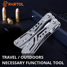 Partol Sheet Metal Tools Universal Multifunctional Auto Motorcycle Repair Tool 24 in 1 Multitool Folding Knife Wire Cutte kit