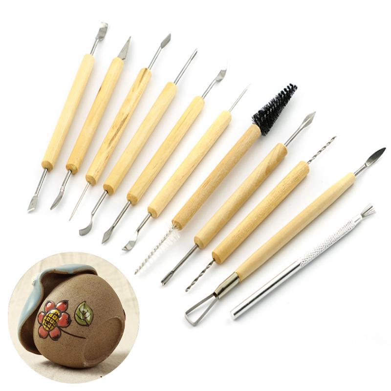 11 Stücke Handwerkzeuge Shapers Für Fimo Skulptur Modelle Tongefäße Diy Ton-skulptur Tool Kit