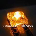 ขายส่งจัดส่งฟรี (1000pcs) 3mm Piranha Super FLUX LED สีเหลือง 3 มม.4Pin LED