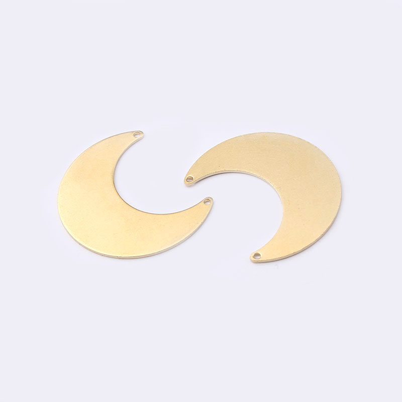 10pcs Raw brass Crescent moon connectors for charms necklace earring diy findings in Jewelry Findings Components from Jewelry Accessories