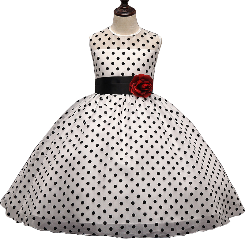 New Baby Dot Ball Gown Girl Birthday Wedding Bridesmaid Pageant Graduation  Print Sleeveless Party Holiday Dresses-in Dresses from Mother   Kids 81a89bb4d51f