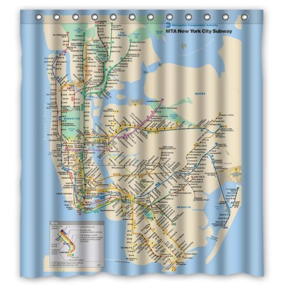 us $24.99 |custom new york city underground tube subway map custom shower  curtain waterproof bathroom shower curtain 36(w)x72(h) inch-in shower