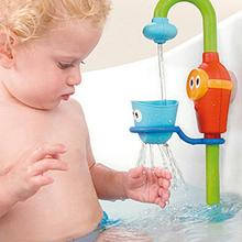 2016 Nuevo Estilo Bebé Juguetes de Baño Ducha Grifo de la Ducha de Baño de Agua Herramienta de Pulverización Juguete Escarceos