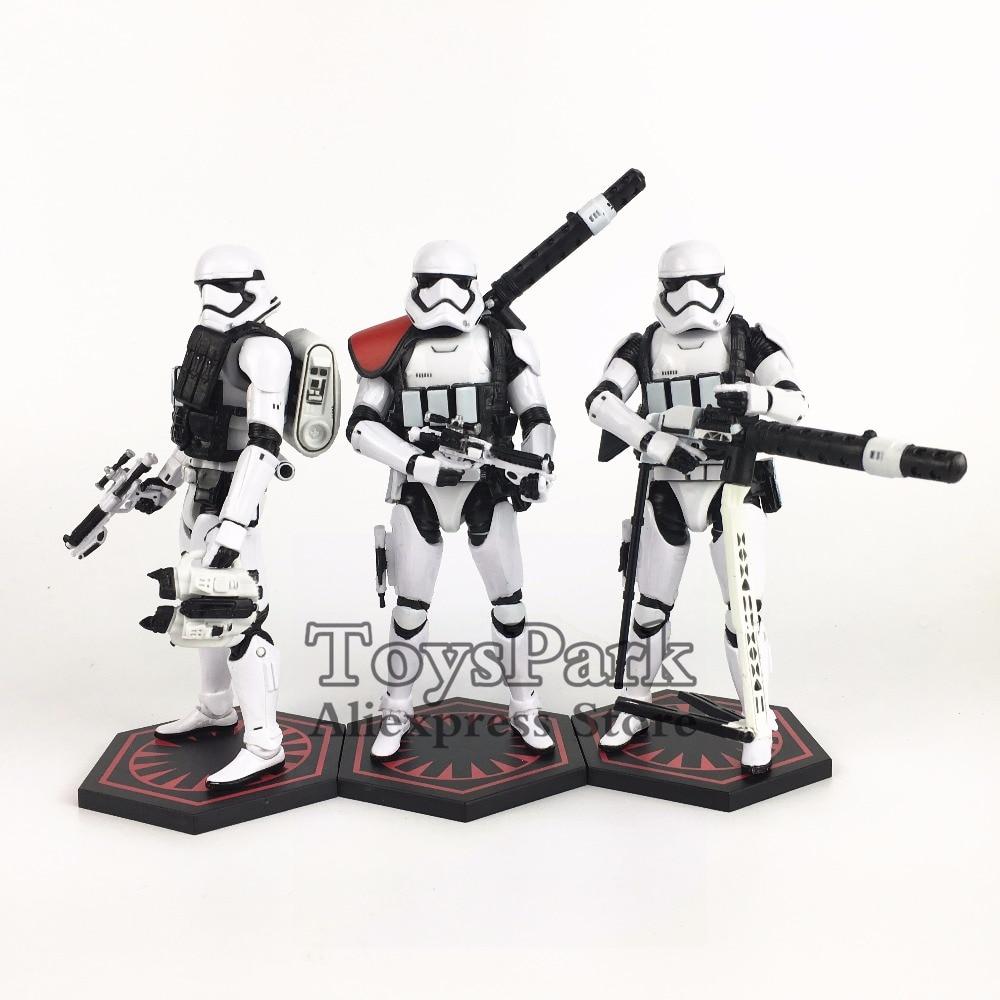 "Star Wars Black Series Last Jedi Frist Order Stormtrooper Heavy Gunner 6/"" Figure"