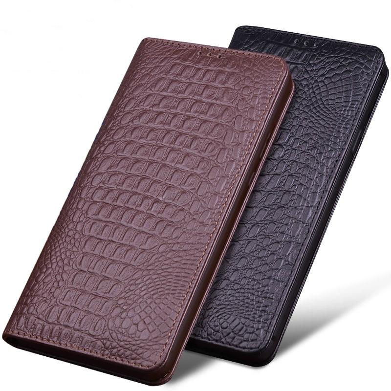 Najnowszy dla oneplus 6 luksusowa oryginalne OCHGEP prawdziwa skóra krokodyla przypadkach telefonów dla oneplus 6 jeden plus 6 moda telefon torba w Etui na telefon z klapką od Telefony komórkowe i telekomunikacja na AliExpress - 11.11_Double 11Singles' Day 1