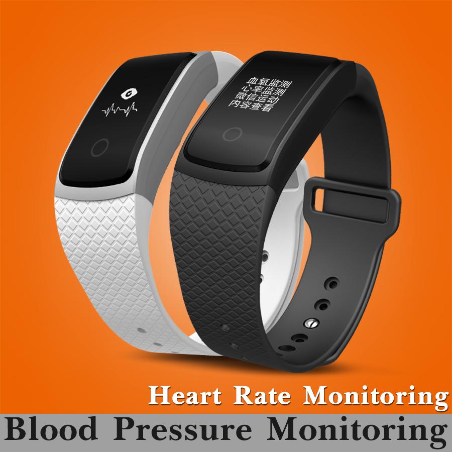 Prix pour Bluetooth Sang Pression D'oxygène Moniteur de Fréquence Cardiaque de Remise En Forme Intelligente Bracelet Bande Activité Tracker Smart Bracelet Smartband