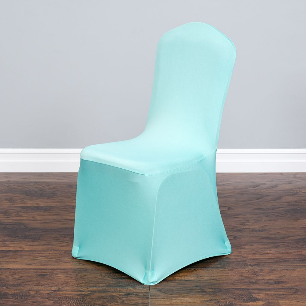 100pcs Mint Green Stretch Indoor Chair Cover For Wedding