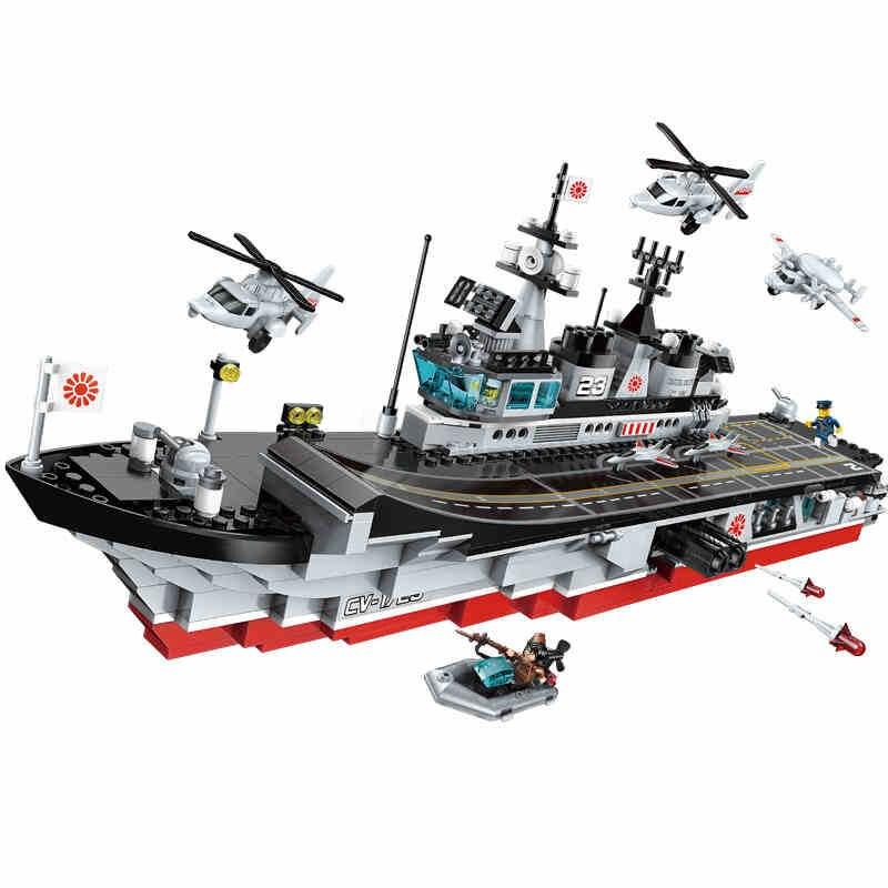642 stücke kinder pädagogisches bausteine spielzeug Kompatibel Legoingly stadt Junge militär serie flugzeuge und träger modell geschenke-in Sperren aus Spielzeug und Hobbys bei  Gruppe 1