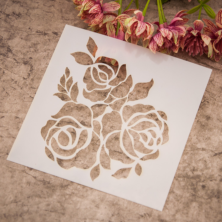 scrapbooking tool card diy album masking spray painted template. Black Bedroom Furniture Sets. Home Design Ideas