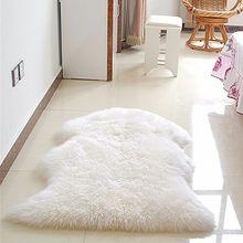 Imitación de piel de oveja suave alfombra estera carpet pad antideslizante sofá silla cubierta para el dormitorio decoración para el hogar