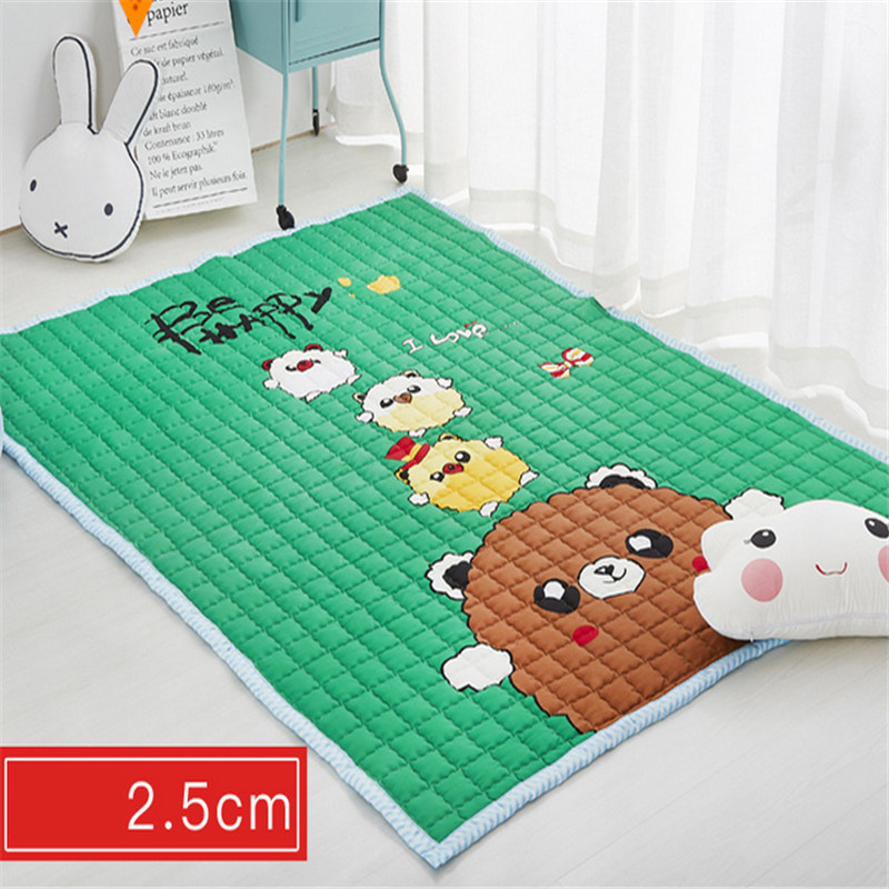 Bears floormat cartoon playmat boys girls game carpet animals blanket baby child 2.5cm rug skidproof yoga 150*200cm picnic mat wood grain flannel skidproof vintage rug