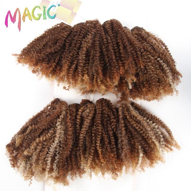 Magic 16 20inch Black Golden Hair Weaving Kinky Curly Hair
