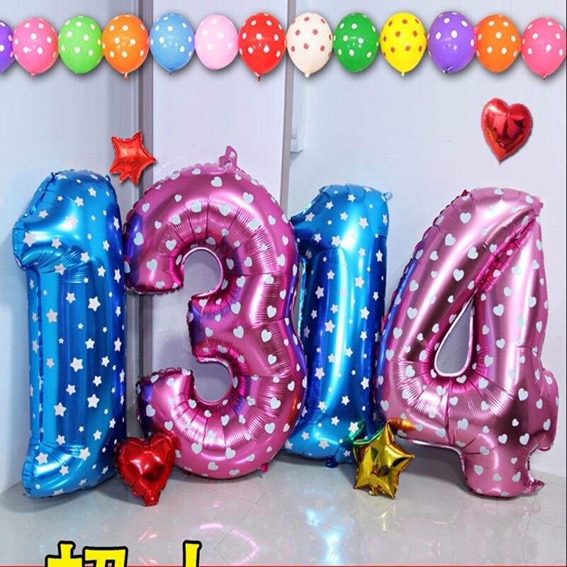 globos de fiesta pulgadas grandes nmeros decorar adorno digital foil globos globos de cumpleaos